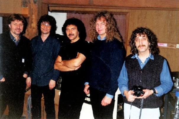 L-R: Bev Bevan, Don Airey, Tony Iommi, Neil Murray, Gordon Giltrap