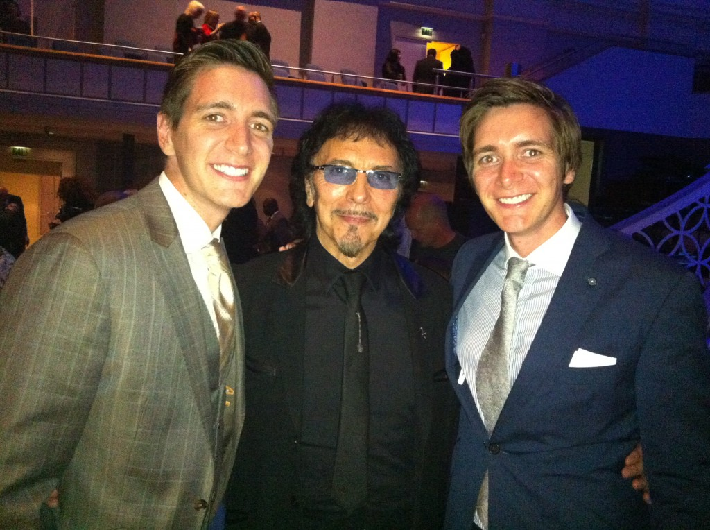Me with a couple of other guests, James & Oliver Phelps of Harry Potter fame.